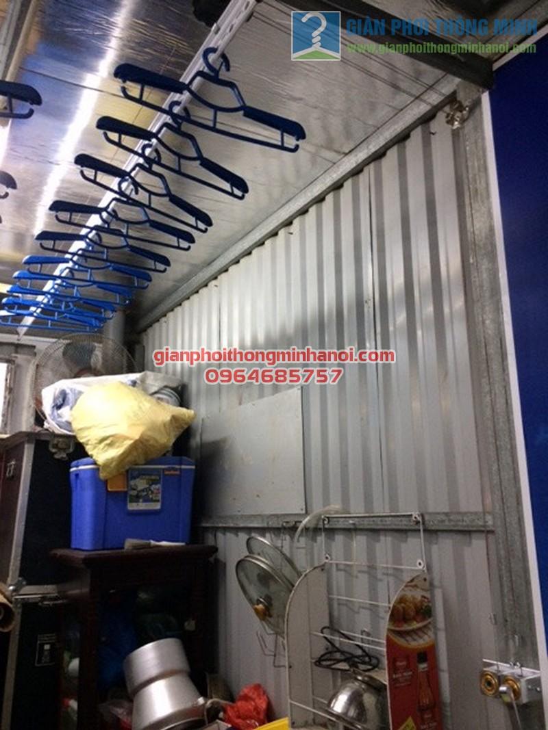 Lắp đặt hoàn thiện giàn phơi thông minh Ba Sao nhà cô Mai, ngõ 67 Nguyễn Khang - 04
