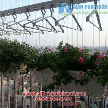 Lắp giàn phơi Hoà Phát AIR nhà chị Lan Anh tại Thanh Xuân, Hà Nội