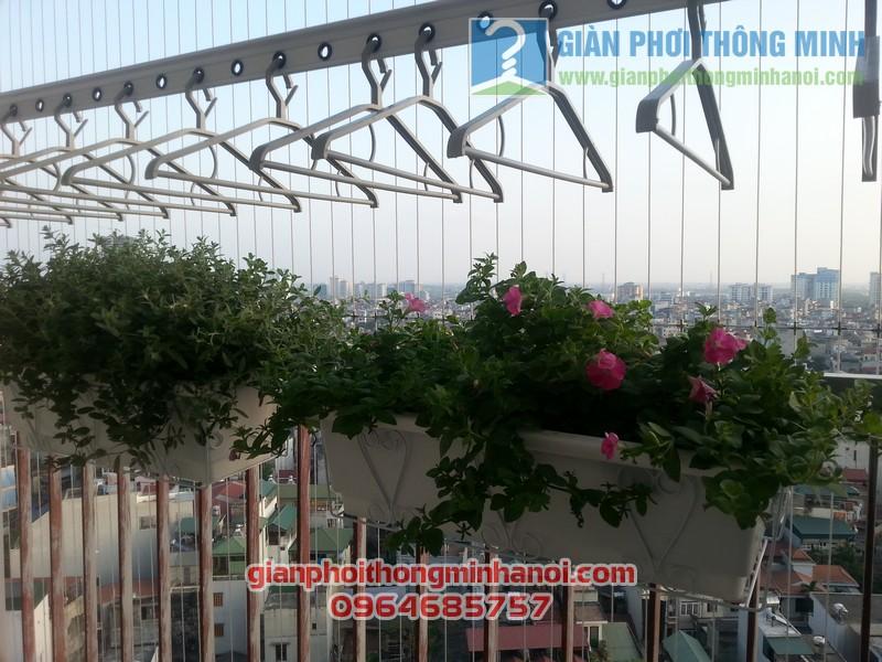 Lắp giàn phơi thông minh Hoà Phát AIR nhà chị Lan Anh tại Thanh Xuân, Hà Nội 06