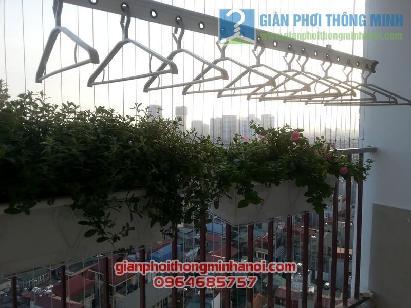 Lắp giàn phơi thông minh Hoà Phát AIR nhà chị Lan Anh tại Thanh Xuân, Hà Nội 08