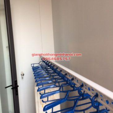 Lắp giàn phơi thông minh Hàn Quốc cho nhà chị Hảo chung cư Thăng Long Number One