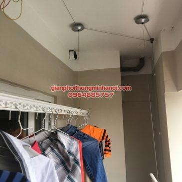 Lắp giàn phơi Hoà Phát AIR cho nhà chị Mai, 207 chung cư 283 Khương Trung, Hà Nội