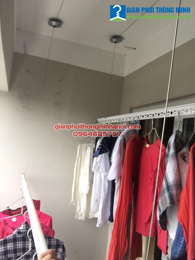 Lắp giàn phơi thông minh  Hoà Phát AIR cho nhà chị Mai, 207 chung cư 283 Khương Trung, Hà Nội