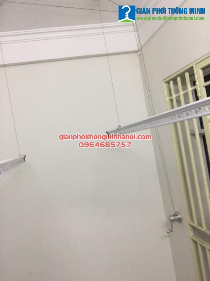 Lắp giàn phơi thông minh Duy Lợi cho nhà chị Ngọc 27/42 ngõ 175 Lạc Long Quận, Tây Hồ