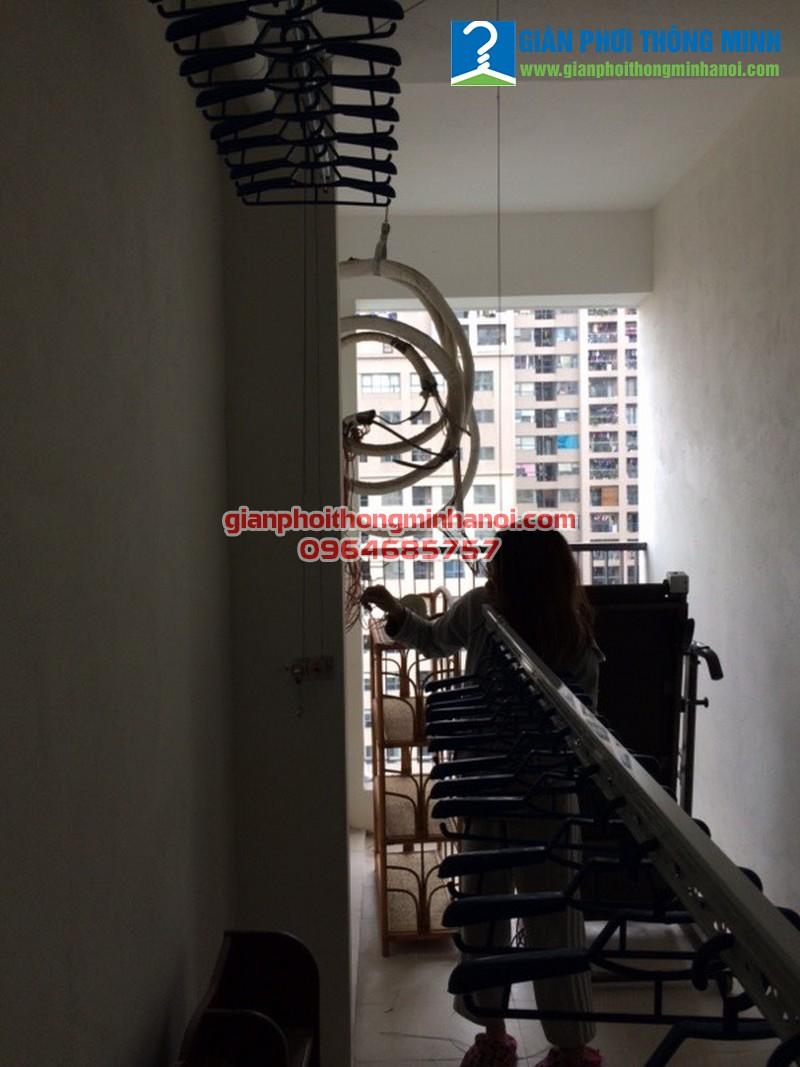 Lắp giàn phơi thông minh cho nhà chị Quỳnh chung cư Complex 102 Trường Chinh