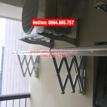 Lắp giàn phơi nhập khẩu tự động cho nhà Diệu p1512, tòa B, chung cư 75 Tam Trinh