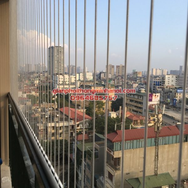 Lưới an toàn ban công chung cư - Cáp lụa inox 3mm - Giá 180.000đ/m2