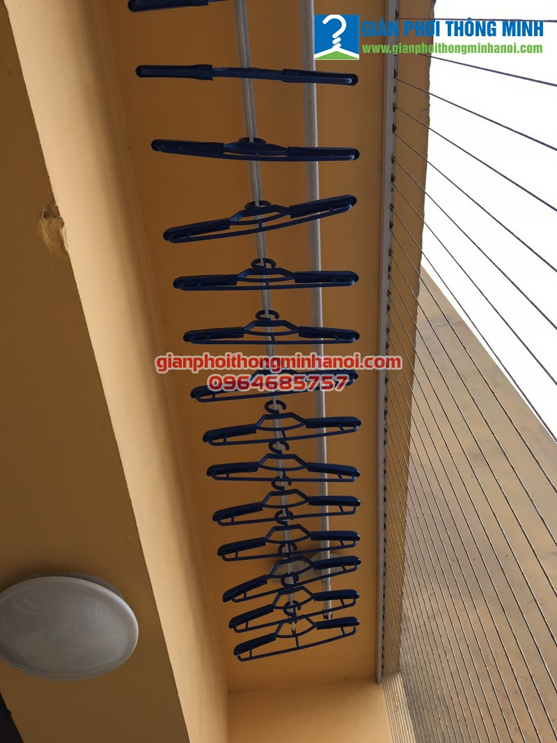 Hoàn thiện lắp đặt giàn phơi thông minh cho nhà chị Dương 58 Vũ Trọng Phụng