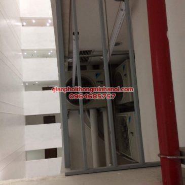 Hoàn thiện lắp đặt giá phơi đồ cho nhà chị Huệ tại tòa nhà Mipec Long Biên