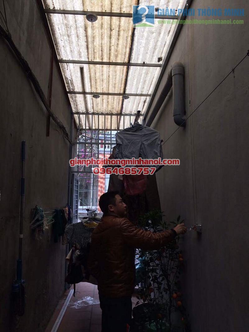 Hoàn thiện lắp đặt giàn phơi thông minh Hoà Phát Star nhà anh Minh, ngõ 55 Thanh Lân - 04