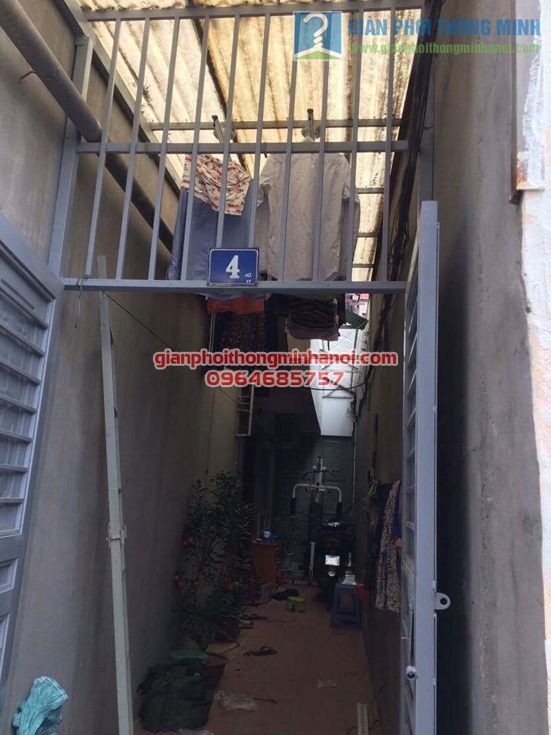 Hoàn thiện lắp đặt giàn phơi Hoà Phát Star nhà anh Minh, ngõ 55 Thanh Lân - 06