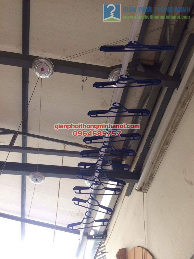 Hoàn thiện lắp đặt giàn phơi nhập khẩu Thái Lan nhà anh Trọng, số 15 Vạn Bảo - 02