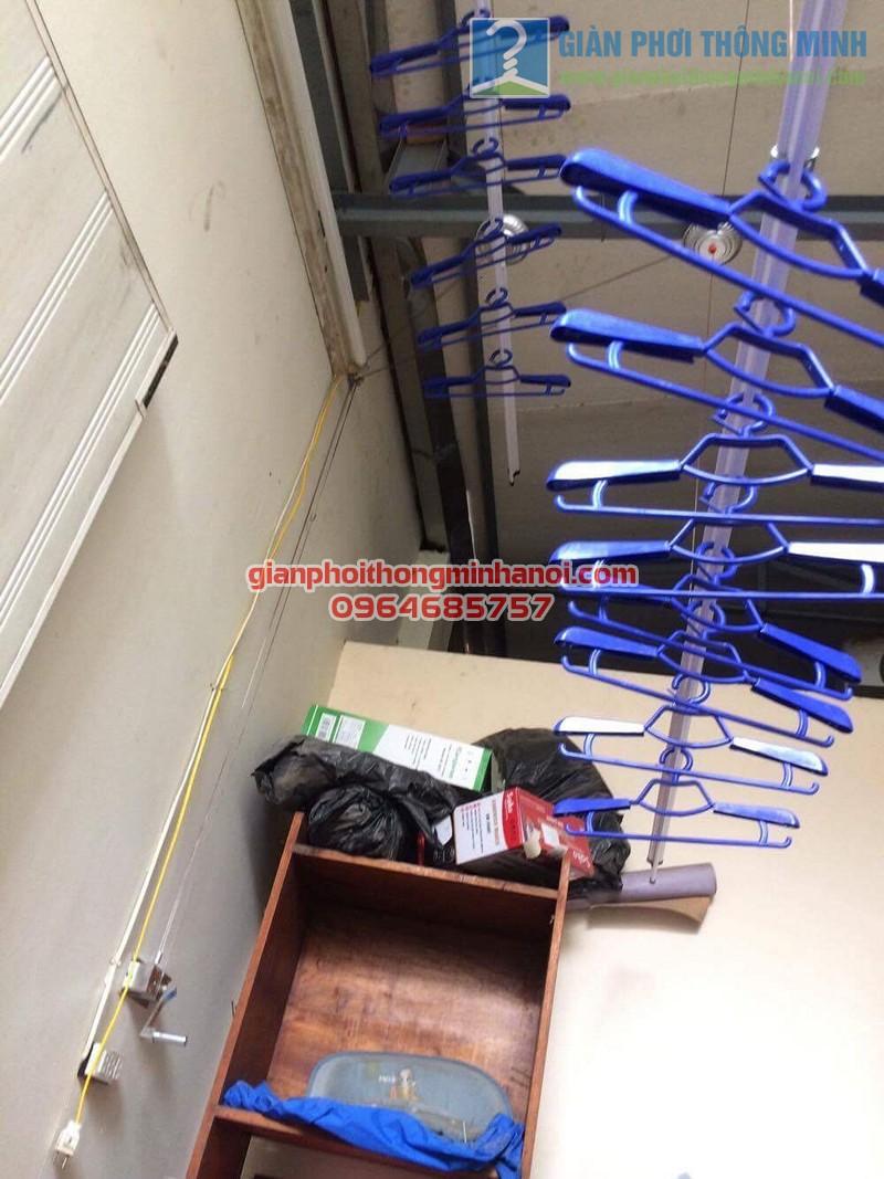 Hoàn thiện lắp đặt giàn phơi nhập khẩu Thái Lan nhà anh Trọng, số 15 Vạn Bảo - 01