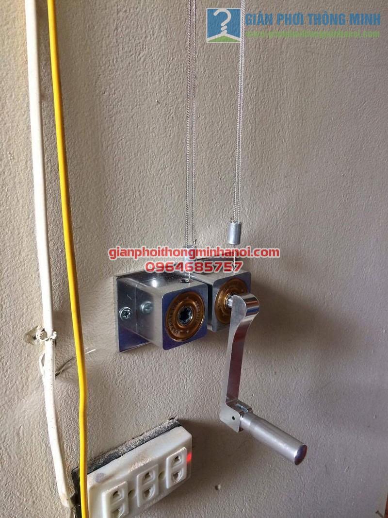 Hoàn thiện lắp đặt giàn phơi nhập khẩu Thái Lan nhà anh Trọng, số 15 Vạn Bảo - 03