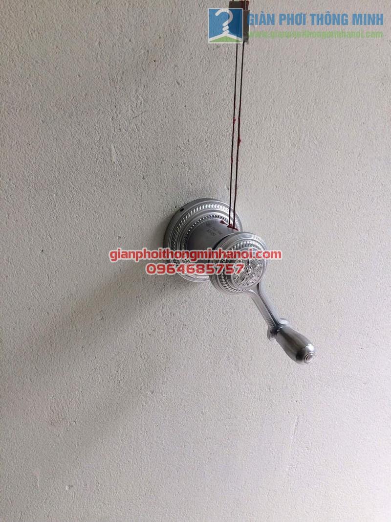 Hoàn thiện lắp đặt giàn phơi thông minh nhập khẩu cho lô gia chung cư nhà anh Mão - 04