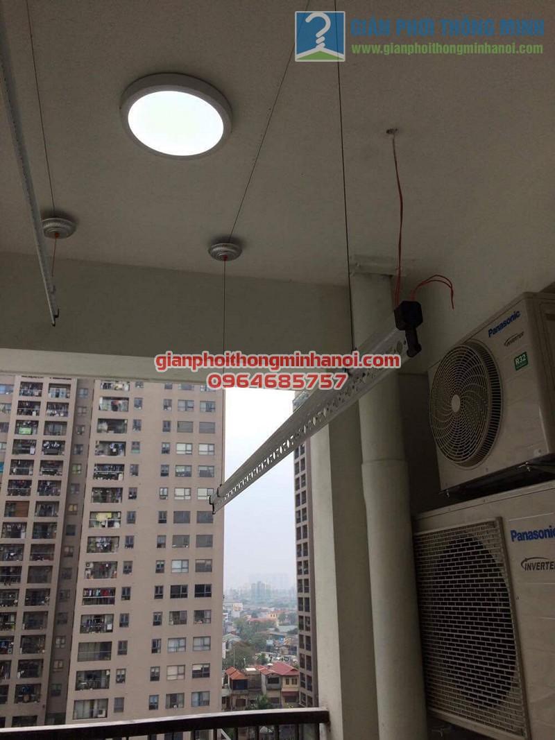 Hoàn thiện lắp đặt giàn phơi thông minh nhập khẩu cho lô gia chung cư nhà anh Mão - 07