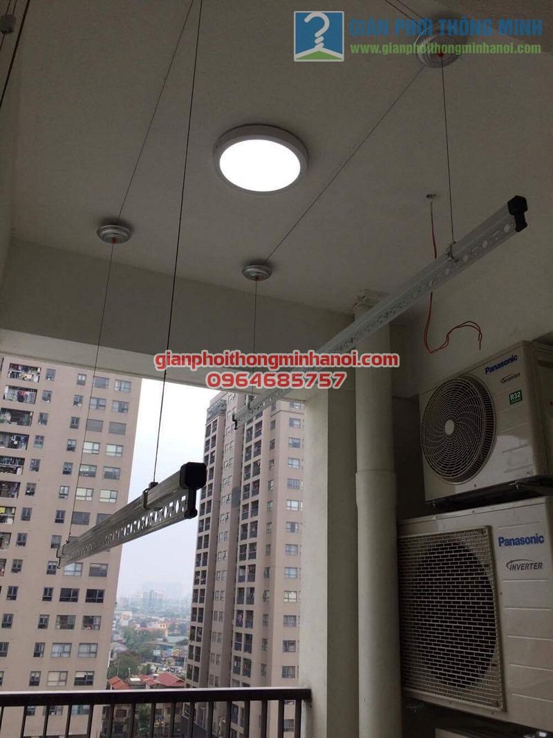 Lắp đặt giàn phơi thông minh cho lô gia chung cư nhà anh Mão, 102 Trường Chinh