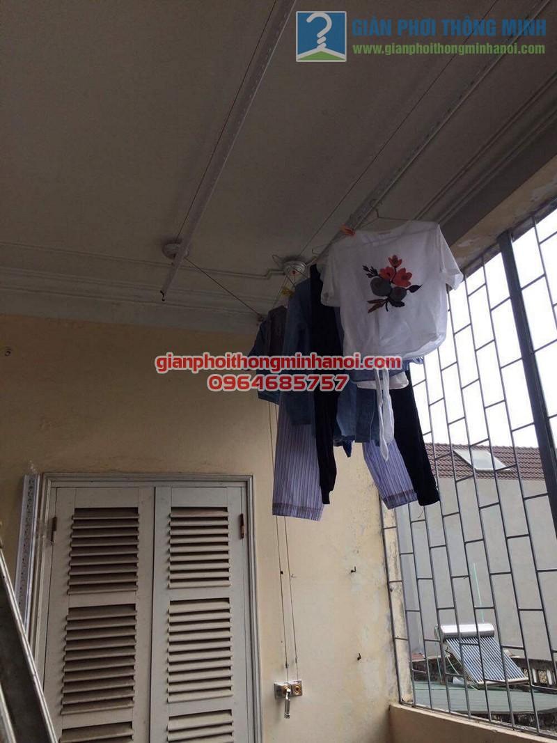 Lắp đặt giàn phơi thông minh Hoà Phát AIR cho nhà chị Ngọc số 8, KTT F361, Yên Phụ - 01