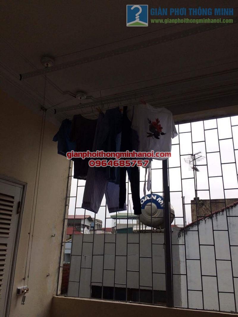 Lắp đặt giàn phơi thông minh Hoà Phát AIR cho nhà chị Ngọc số 8, KTT F361, Yên Phụ - 03