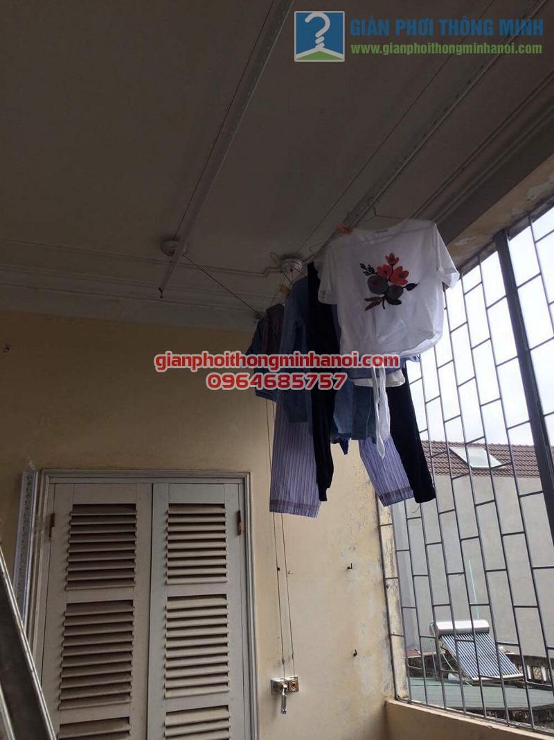 Lắp đặt giàn phơi thông minh Hoà Phát AIR cho nhà chị Ngọc số 8, KTT F361, Yên Phụ - 05