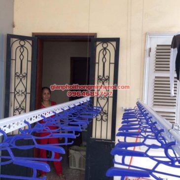 Lắp đặt giàn phơi Hoà Phát AIR cho nhà chị Ngọc số 8, KTT F361, Yên Phụ