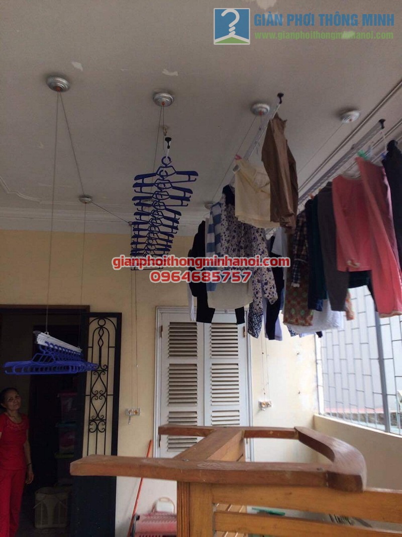 Lắp đặt giàn phơi thông minh Hoà Phát AIR cho nhà chị Ngọc số 8, KTT F361, Yên Phụ - 06