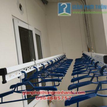 Lắp đặt giàn phơi thông minh Hàn Quốc tại ban công nhà cô Tâm, chung cư Đông Đô