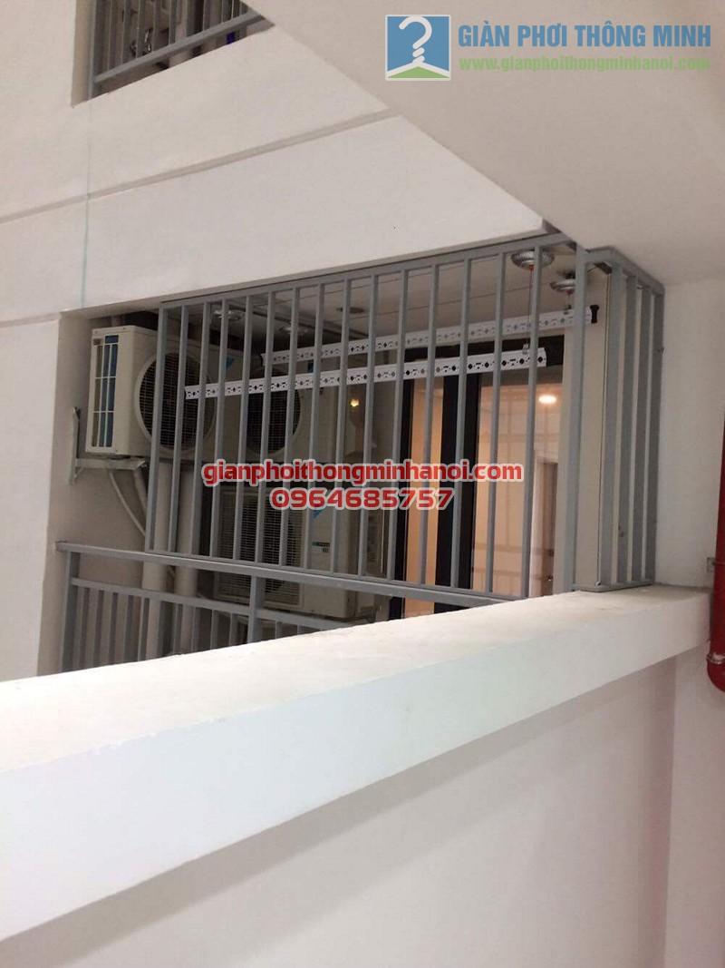 Lắp đặt giàn phơi nhập khẩu tự động tăng độ thoáng ban công nhà chị Lan, Mipec Long Biên - 06