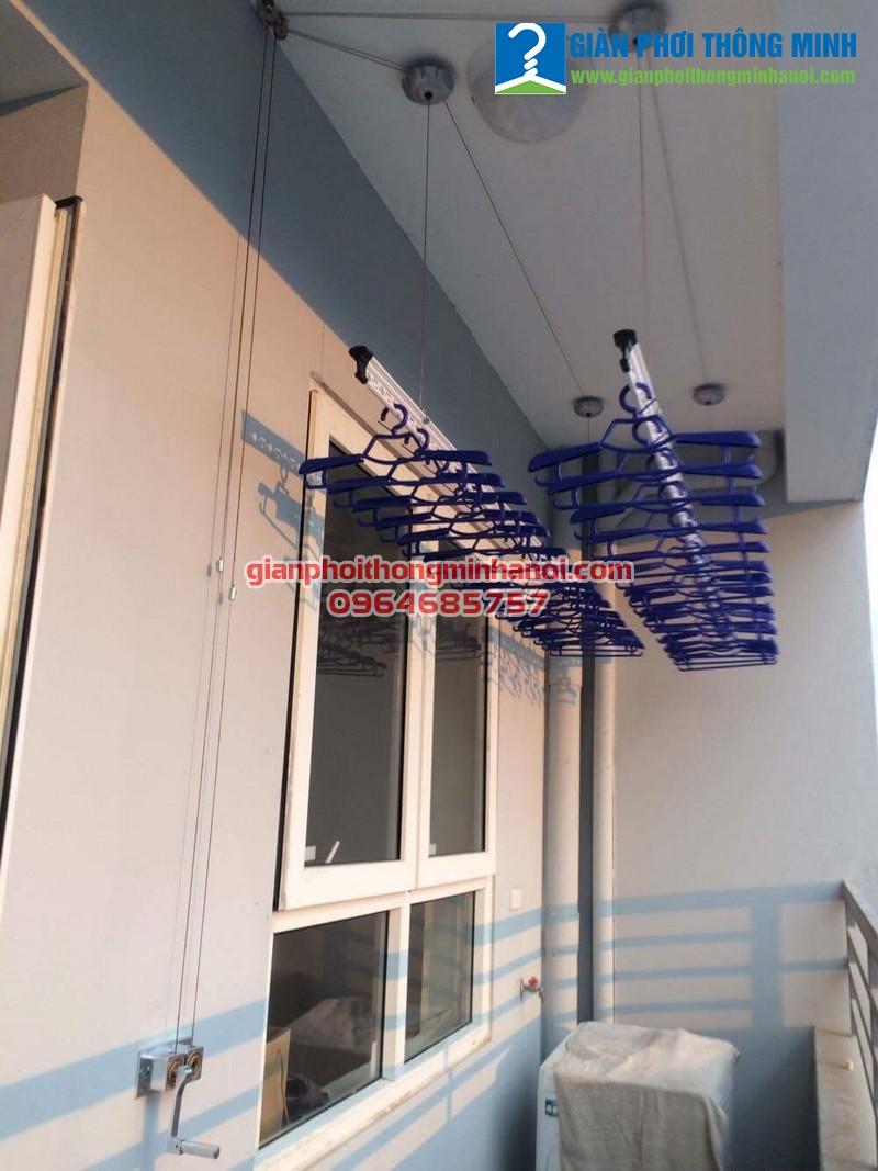 Lắp giàn phơi thông minh Hoà Phát AIR cho nhà chị Hoa 14A1 Nguyễn Chánh