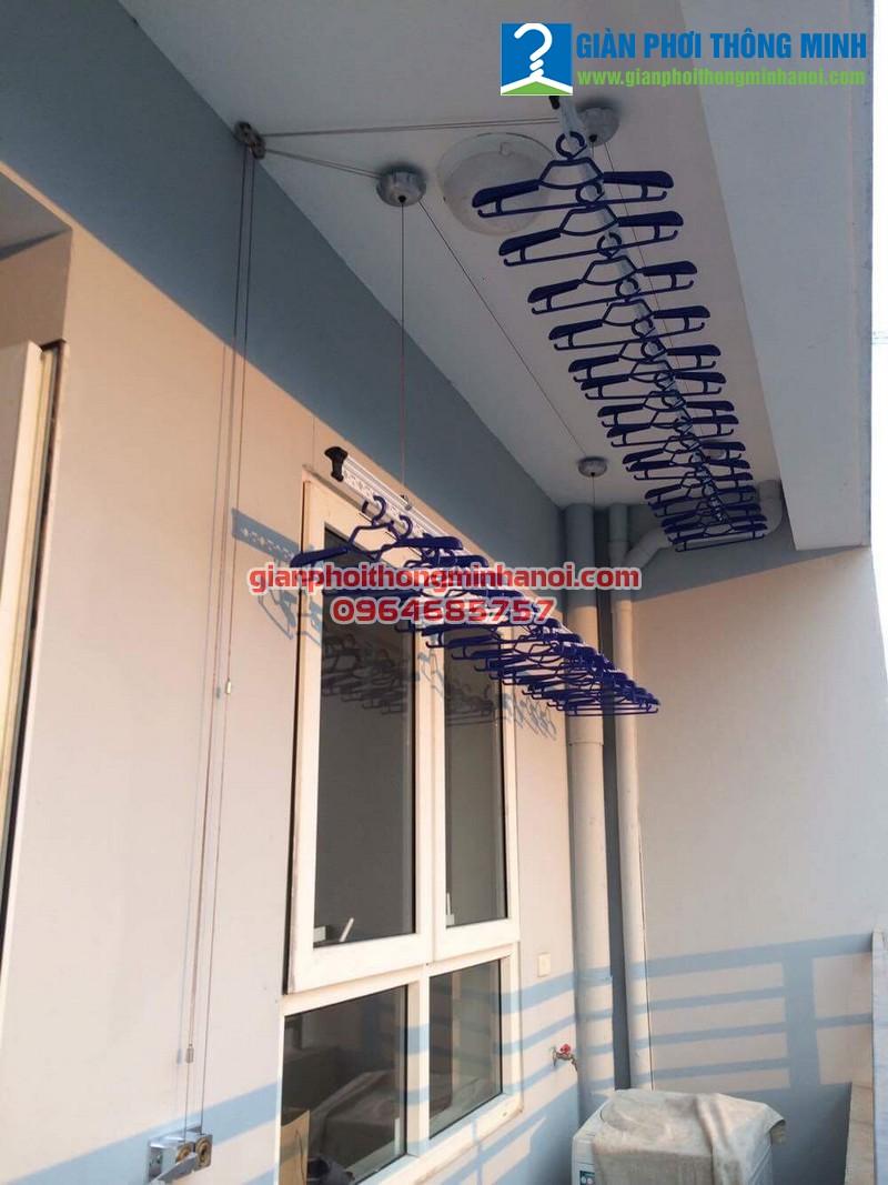 Lắp giàn phơi thông minh cho nhà chị Hoa 14A1 Nguyễn Chánh