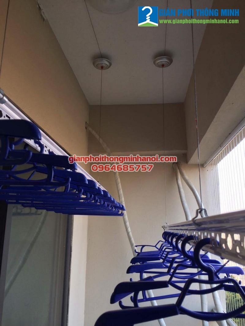 Lắp giàn phơi Hoà Phát Star cho nhà chị Hồng P906, CT7A Khu đô thị Đặng Xá, Gia Lâm