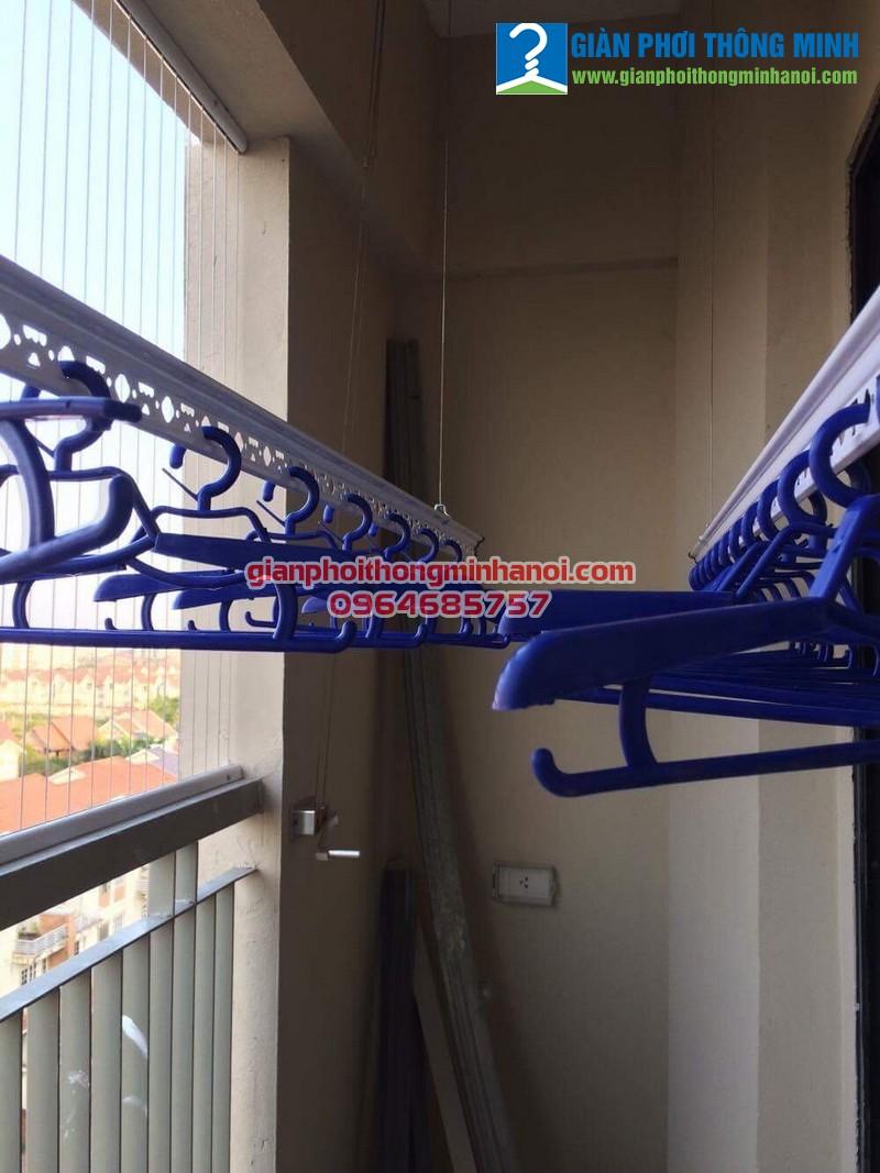 Lắp giàn phơi thông minh cho nhà chị Hồng P906, CT7A Khu đô thị Đặng Xá, Gia Lâm