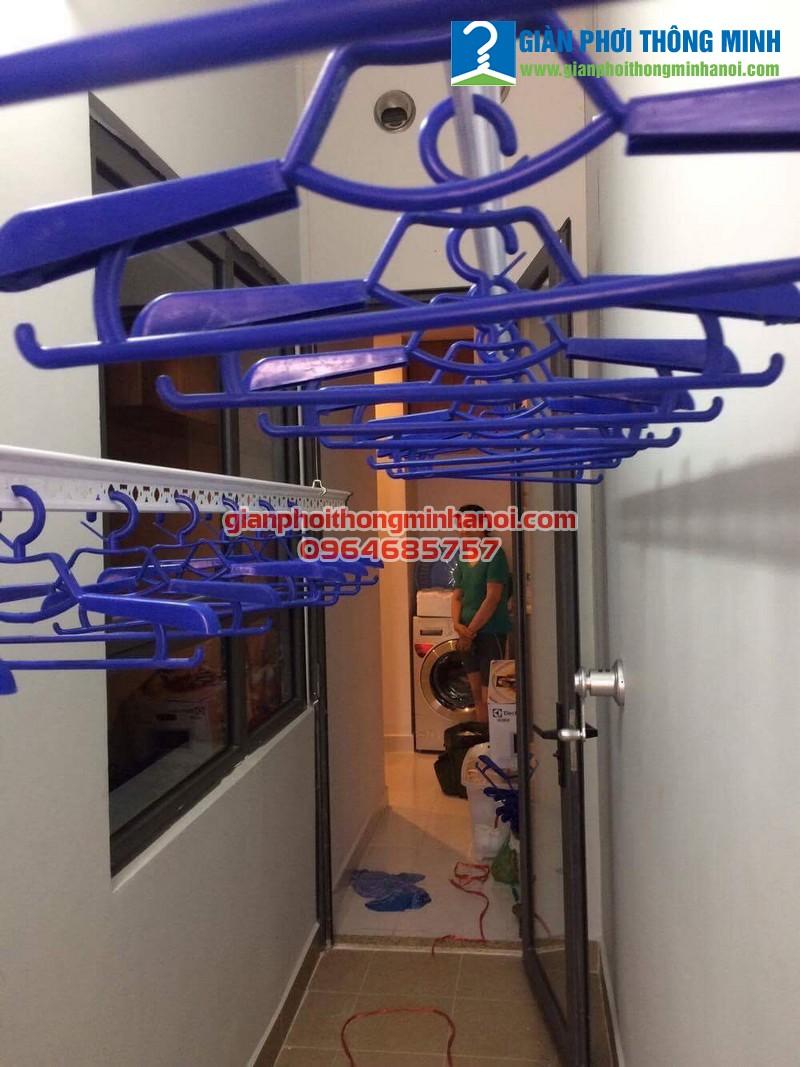Triển khai lắp đặt bộ giàn phơi Hoà Phát Star  cho nhà chị Loan Ct3 tòa The One Gamuda