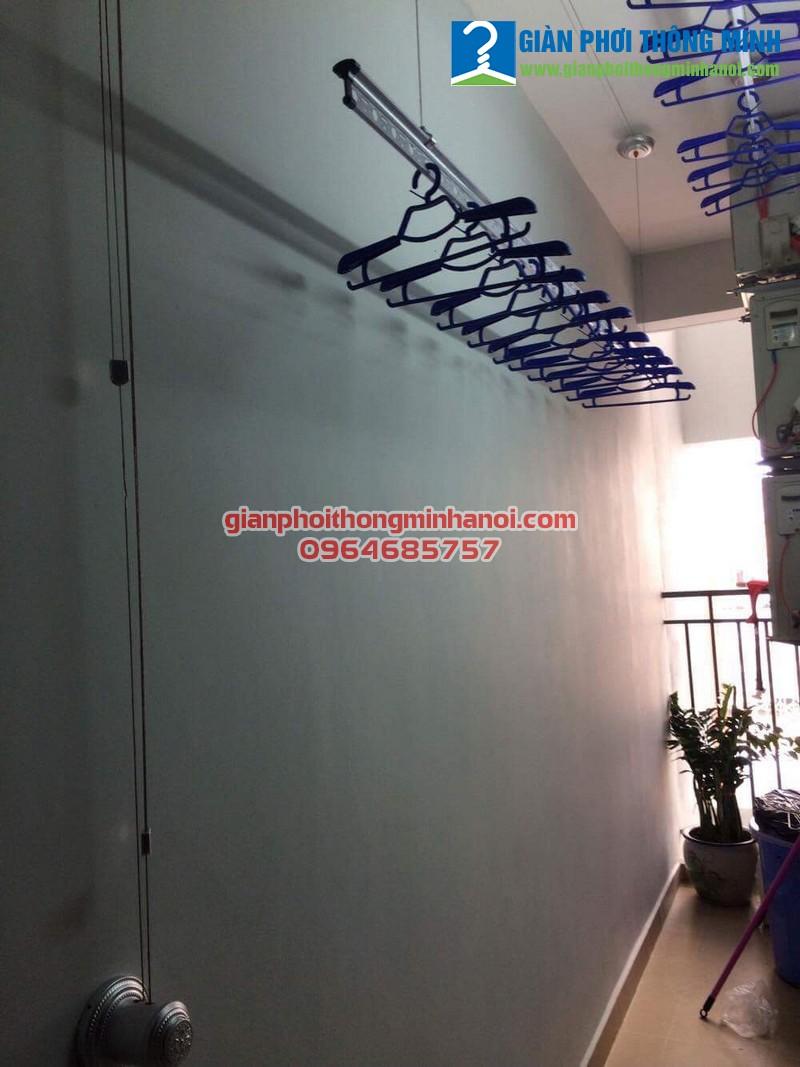 Triển khai lắp đặt bộ giàn phơi thông minh Hoà Phát Star cho nhà chị Loan Ct3 tòa The One Gamuda