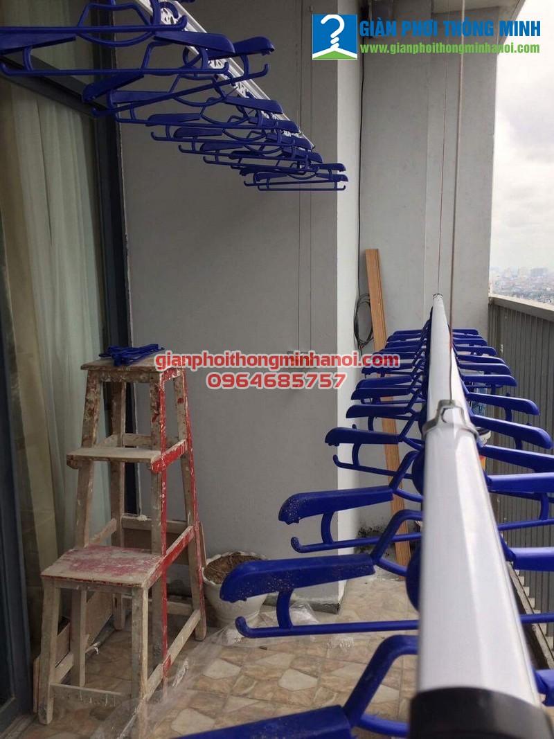 Chiêm ngưỡng bộ giàn phơi Hoà Phát AIR của nhà chị Thu.P2102.Tòa nhà Newskyline Văn Quán