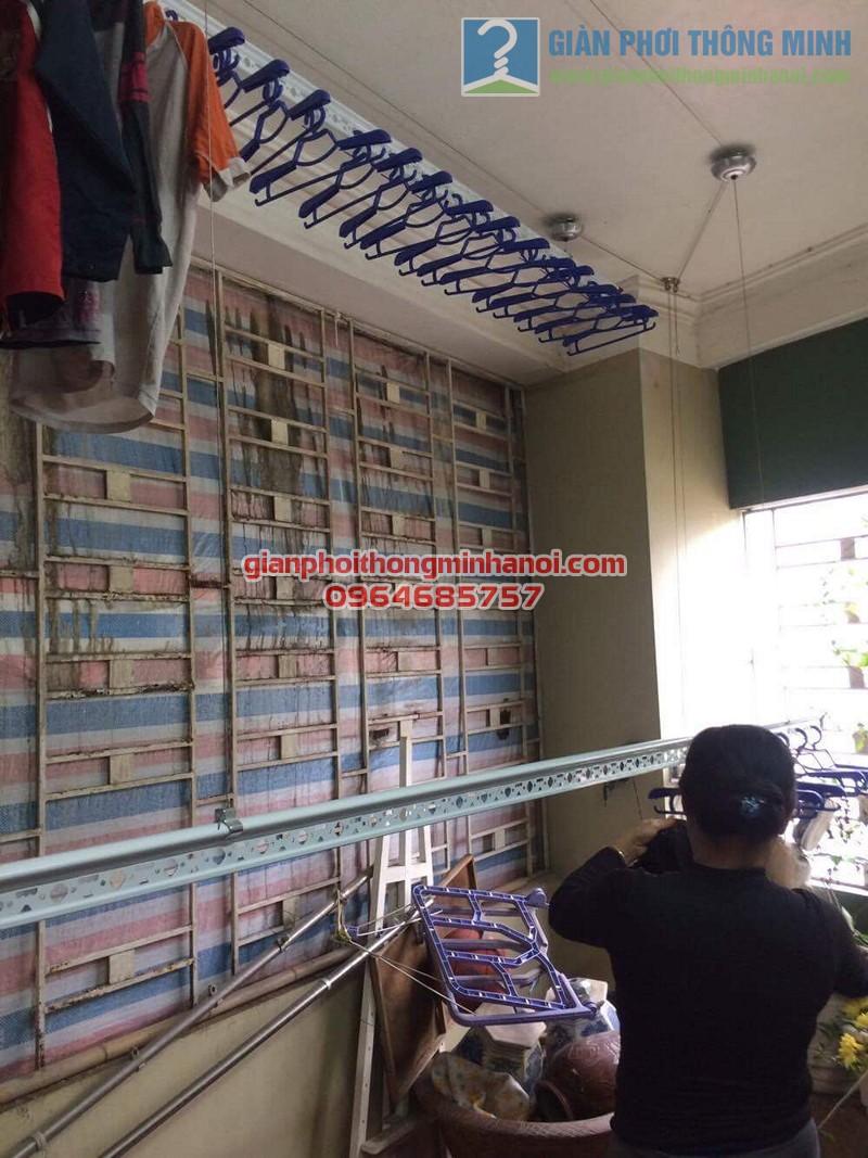 Lắp đặt giàn phơi Ba Sao nhà cô Thịnh, Yên Hòa - 03