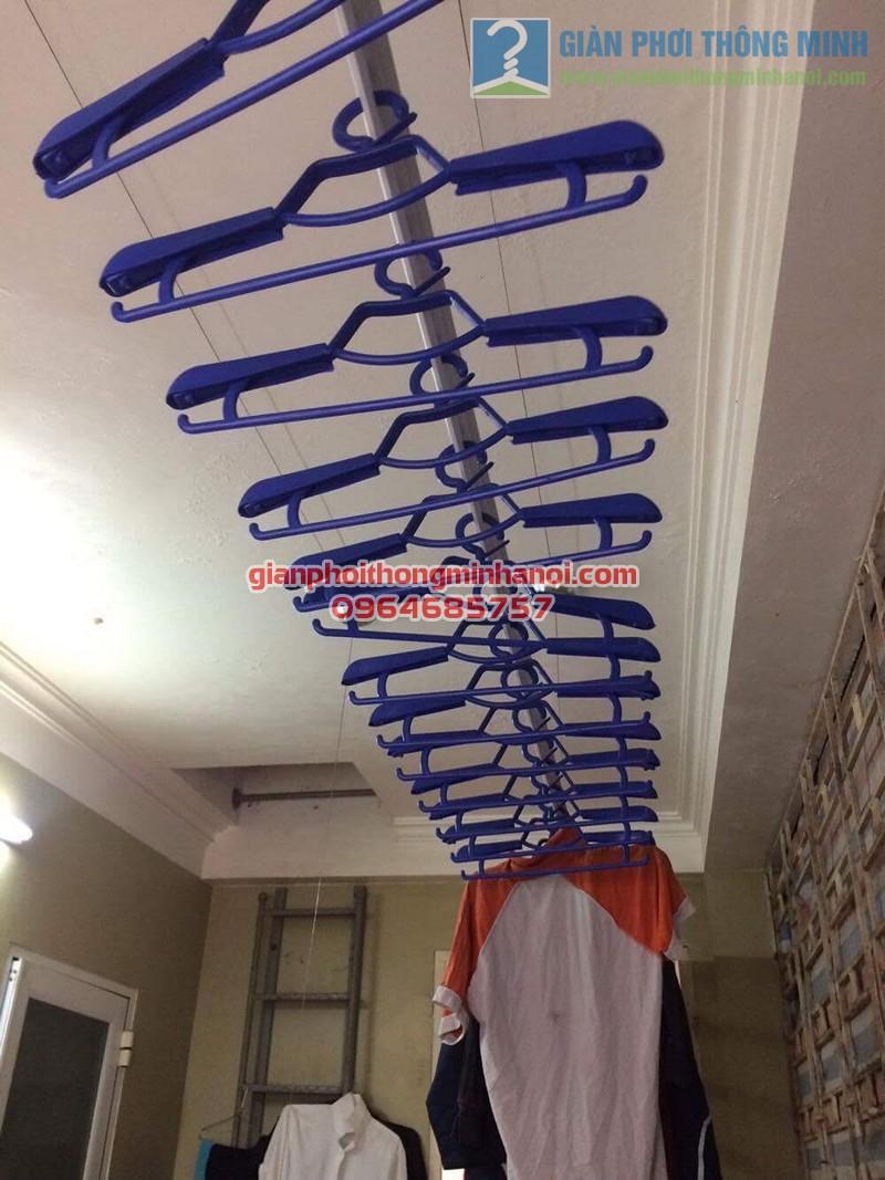 Lắp đặt giàn phơi Ba Sao nhà cô Thịnh, Yên Hòa - 02