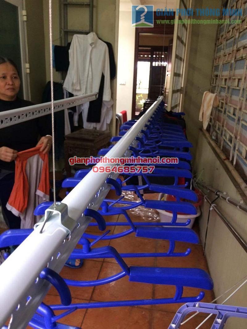 Lắp đặt giàn phơi Ba Sao nhà cô Thịnh, Yên Hòa - 04