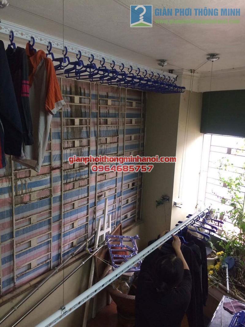 Lắp đặt giàn phơi Ba Sao nhà cô Thịnh, Yên Hòa - 01