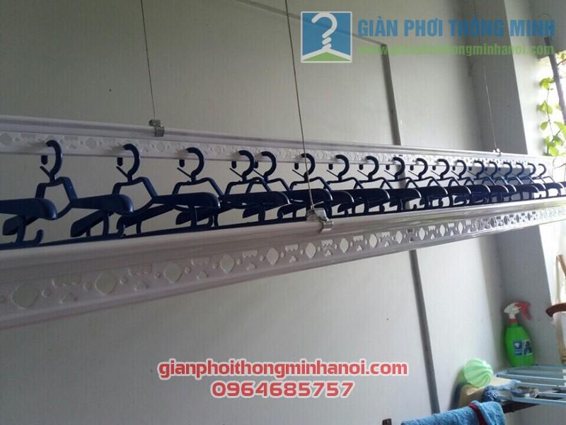 Lắp đặt giàn phơi thông minh cho lô gia chung cư nhà anh Tuấn, quận Tân Bình