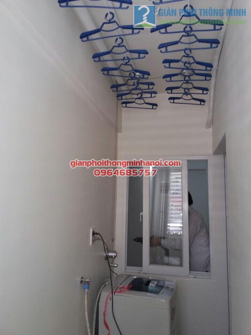 Lắp đặt giàn phơi thông minh cho lô gia chung cư nhà anh Tuấn, quận Tân Bình - 01