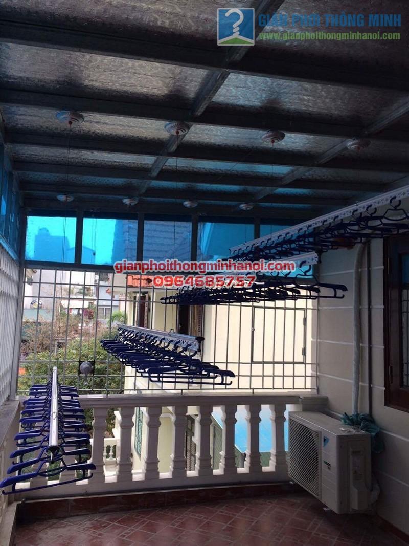 Lắp đặt giàn phơi nhập khẩu Thái Lan cho sân phơi trần mái tôn nhà cô Lam, KBT Văn Quán - 06
