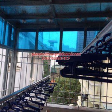 Lắp đặt giàn phơi nhập khẩu Thái Lan cho sân phơi trần mái tôn nhà cô Lam, KBT Văn Quán