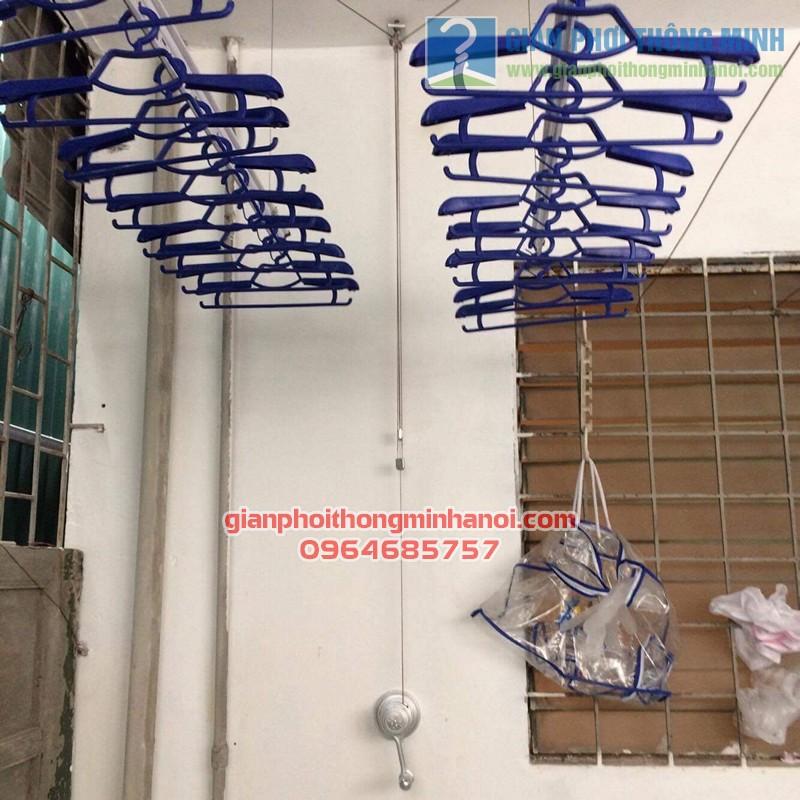 Lắp đặt giàn phơi giá phơi đồ nhà Chị Hương, Cầu Đất - Chương Dương