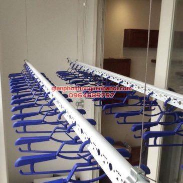 Hoàn thiện lắp đặt giàn phơi nhập khẩu Singapore nhà chú Chiến, chung cư Ngoại Giao Đoàn