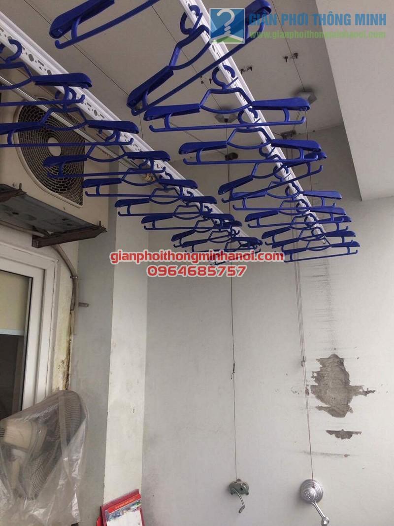 Lắp đặt giàn phơi thông minh Hàn Quốc tại ban công nhà chị Hằng, tháp A Hà Thành Plaza