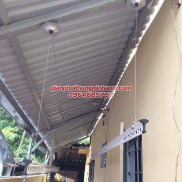 Lắp đặt giàn phơi Hàn Quốc trên nền trần mái tôn chéo nhà chị Trang, Lĩnh Nam