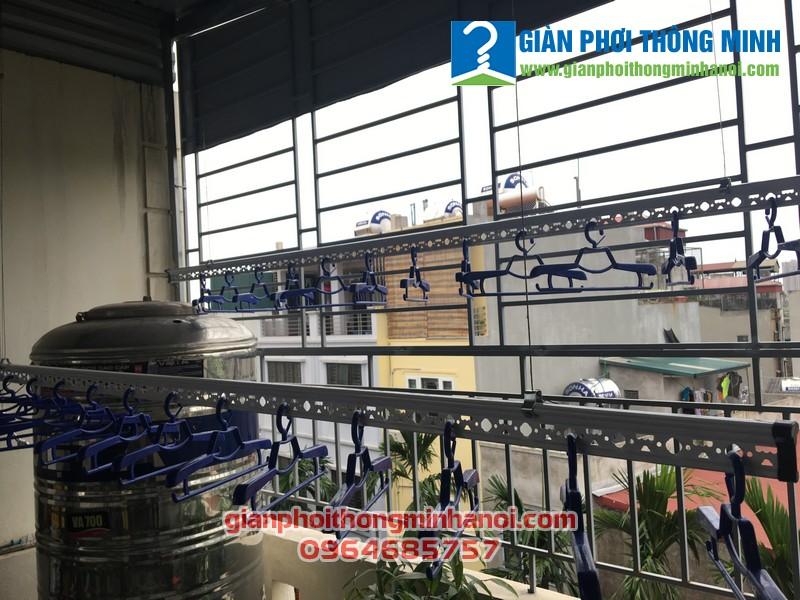 Lắp giàn phơi nhập khẩu Singapore nhà chú Tuyền ngõ 53/1 Tân Triều, Thanh Xuân, Hà Nội
