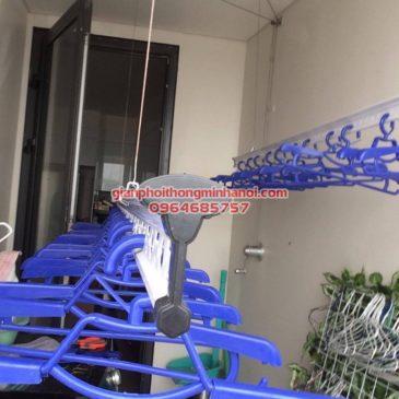 Lắp giàn phơi thông minh nhập khẩu chất lượng cao cho nhà chị Thu tòa nhà Mipec Long Biên