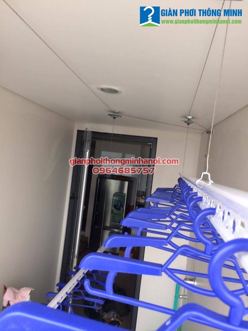 Lắp giàn phơi nhập khẩu chất lượng cao cho nhà chị Thu tòa Mipec Long Biên